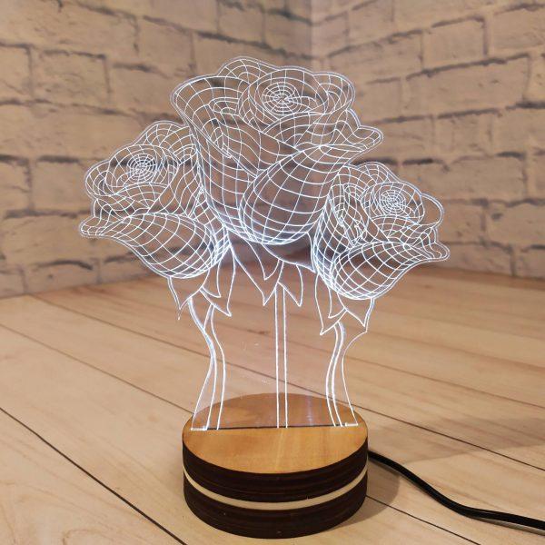 3Д светильник Букет роз 1