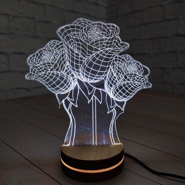 3Д светильник Букет роз