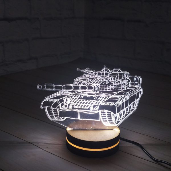 3Д светильник День танкиста