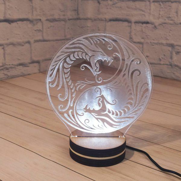 3Д светильник Дракон 1