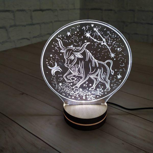 3Д светильник Козерог