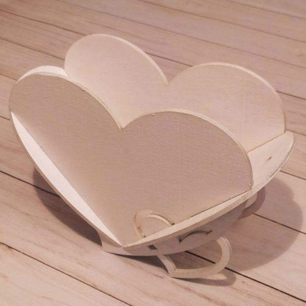 Декоративное кашпо Сердце белое