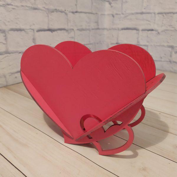Декоративное кашпо Сердце малиновое