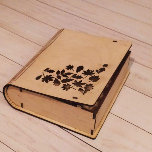 Подарочная коробка Книга резная