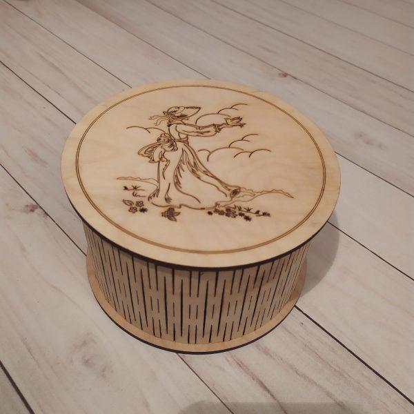 Подарочная коробка круглая Шкатулка