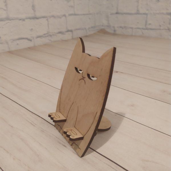Подставка под телефон Злой котик 1