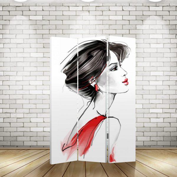 Ширма Девушка в красном