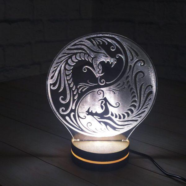 3Д светильник Дракон