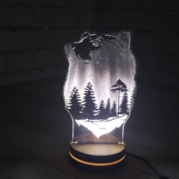 3Д светильник Медведь