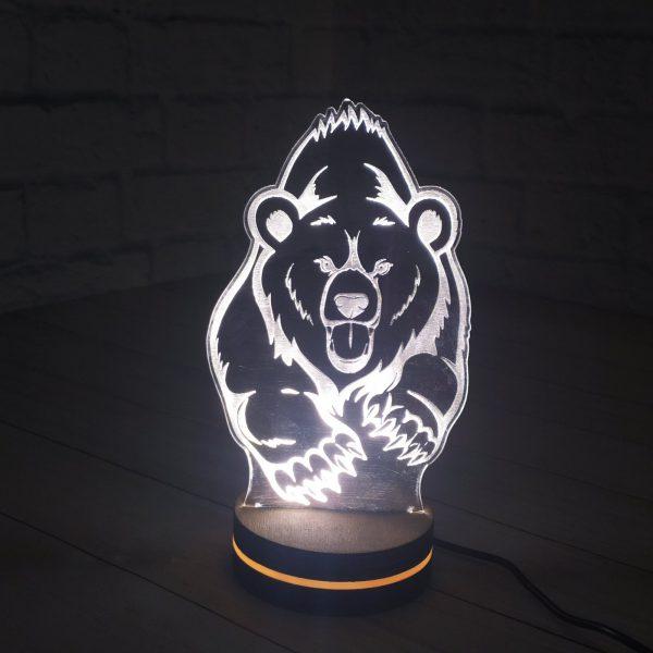 3Д светильник Свирепый Медведь