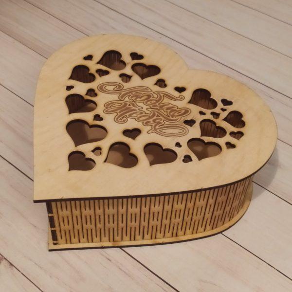 Подарочная коробка большая Сердце
