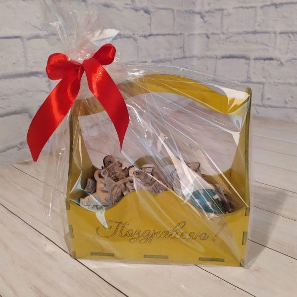 Подарочный набор в желтой корзине 1