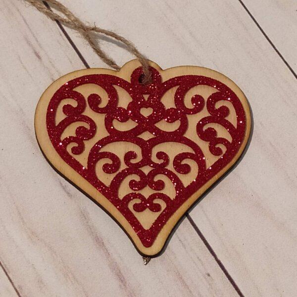 Сувенир из фанеры Сердце 12