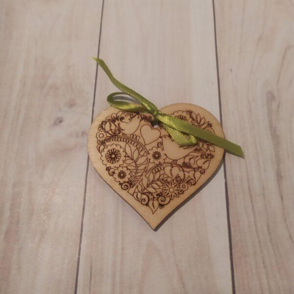 Сувенир из фанеры Сердце 5