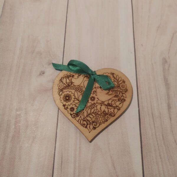 Сувенир из фанеры Сердце 7