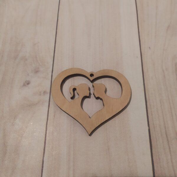Сувенир из фанеры Сердце 9