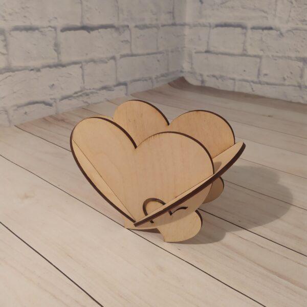 Декоративное кашпо сердце маленькое 1