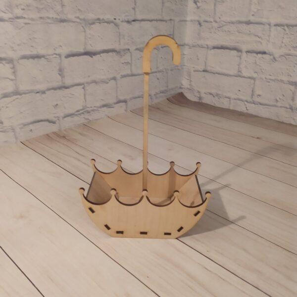 Деревянное кашпо зонтик 2