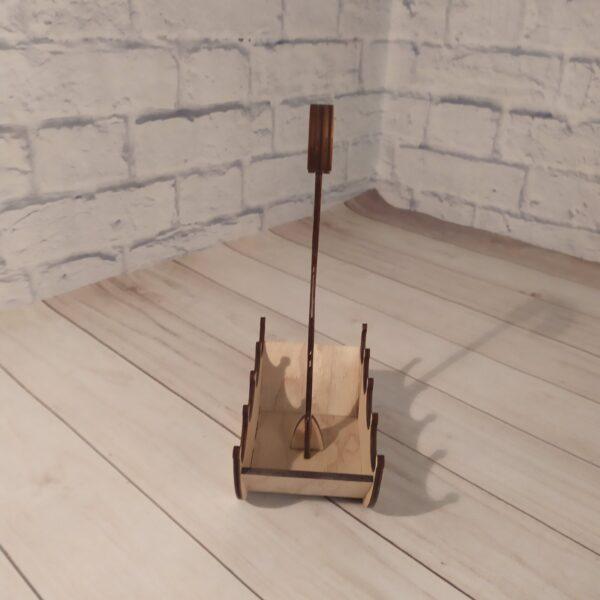 Деревянное кашпо зонтик 3