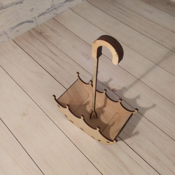Деревянное кашпо зонтик 4