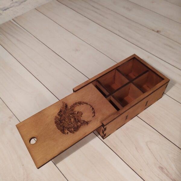 Коробка из фанеры с выдвижной крышкой 3