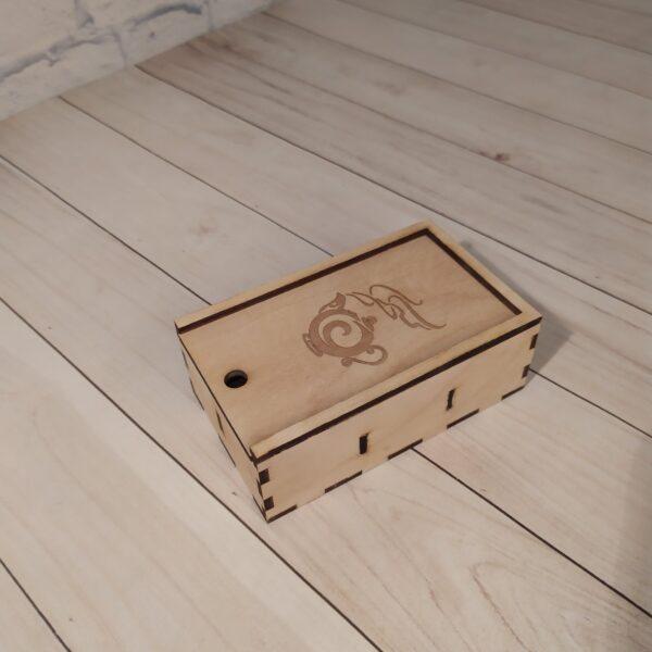 Коробка из фанеры с выдвижной крышкой светлая
