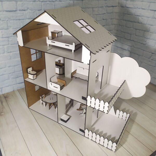 Кукольный домик Коттедж с мебелью 2