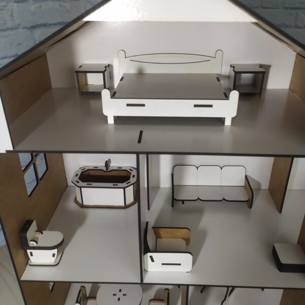 Кукольный домик Коттедж с мебелью 3