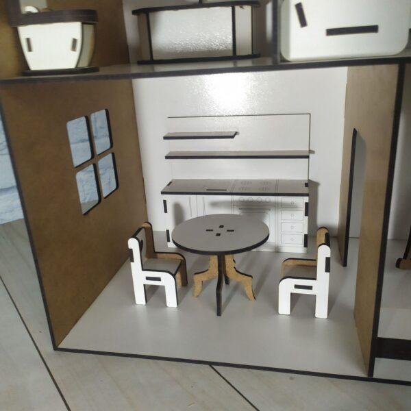 Кукольный домик Коттедж с мебелью 4