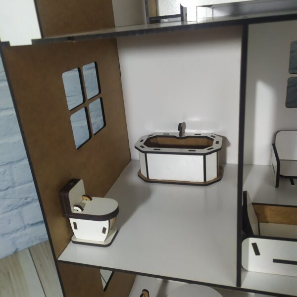 Кукольный домик Коттедж с мебелью 5