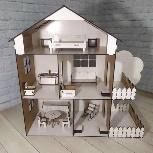 Кукольный домик Коттедж с мебелью 1