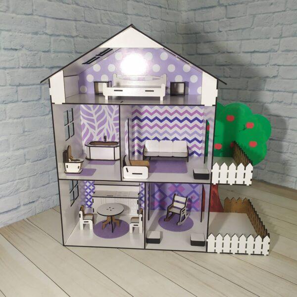 Кукольный домик Коттедж с мебелью Люкс 1