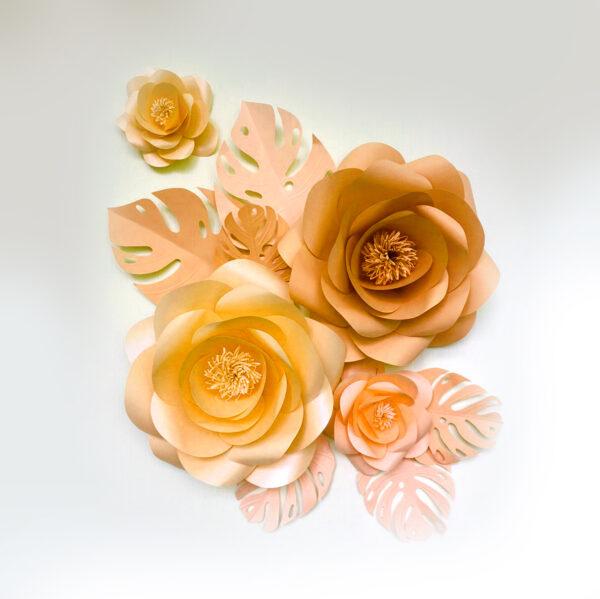 Цветок бумага 4