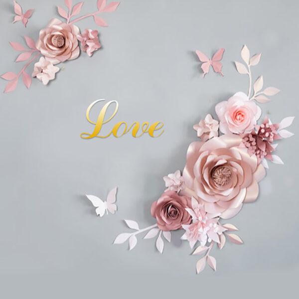 Цветок бумага 13