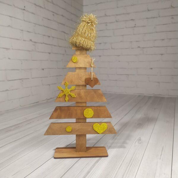 Новогодние елки с шапочкой